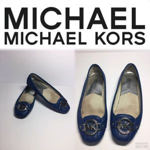Michael Kors, Royal Blue Lillie Leather moccasin,